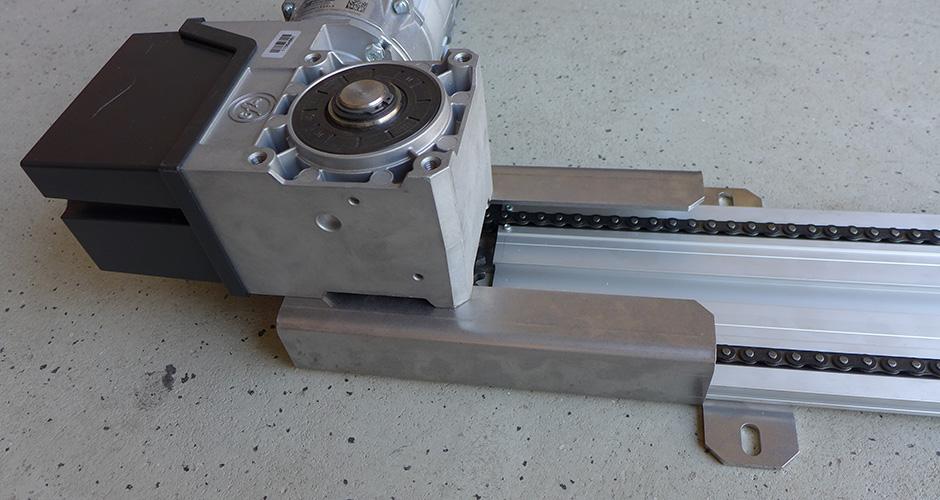 KS-Torantrieb - Montage Antrieb
